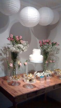Rustico e Chic Mesa do bolo