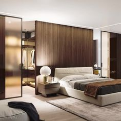 📌 Modern Bedroom Inspiration or Bedroom Design Ideas « ANIPO Modern Luxury Bedroom, Luxury Bedroom Design, Master Bedroom Interior, Bedroom Bed Design, Modern Master Bedroom, Modern Bedroom Decor, Luxurious Bedrooms, Home Bedroom, Luxury Bedrooms