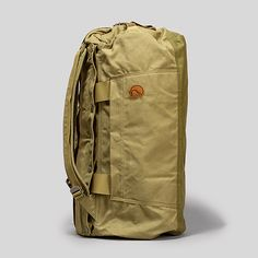 Classic Swedish outdoor brand Fjällräven builds their stuff to last. The 50-liter Duffel No. 6 is a little brute. Built of their weatherproof & waxable G-1000 canvas fabric, it features durable metal zippers, leather handles, & backpack straps that stow-away when not in use. Also available in 70 & 110-liter sizes.