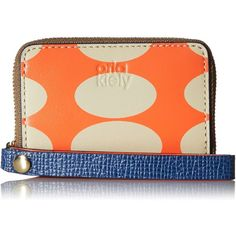 Orla Kiely Oval Printed Leather Mini Hanging Zip Wallet (4.420 RUB) ❤ liked on Polyvore featuring bags, wallets, leather bags, mini wallet, genuine leather wallet, real leather wallets and zipper bag