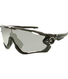 c4df2120461 Oakley Men s Polarized Jawbreaker OO9290-07 Black Shield Sunglasses