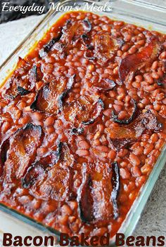 New birthday breakfast for her parties 64 ideas Sides For Bbq Ribs, Best Sides For Bbq, Side Dishes For Ribs, Best Side Dishes, Rib Sides, Baked Bean Recipes, Beans Recipes, Crock Pot Baked Potatoes, Baked Beans With Bacon