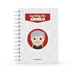 Cuaderno - Las notas del abuelo, encuentra este producto en nuestra tienda online y personalízalo con un nombre. Notebook, Grandparent, Notebooks, Report Cards, Store, The Notebook, Exercise Book