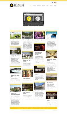 www.zonazero.it Zero, Web Design, Design Web, Website Designs, Site Design