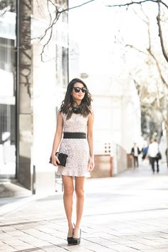 Double :: Sequin charm & Sequin casual Outfit One :: Parker Black dress, Burberry trench, Miu Miu pumps (old), Loeffler Randall clutch  Published: March 9, 2016