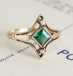 Victorian Tourmaline and Seed Pearl Ring, $650.