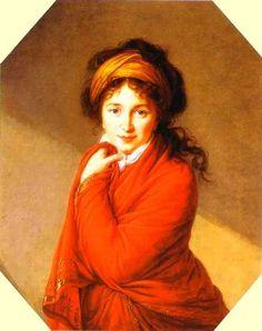 Portrait of Countess Varvara Golovina, Oil by Louise Elisabeth Vigée Le Brun (1755-1842, France)
