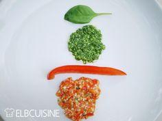 Pesto Duo – mal ganz anders mit Spinat und roter Paprika, roh und vegan
