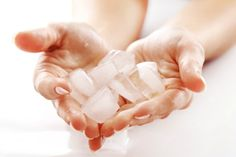 ice massage for breast firming
