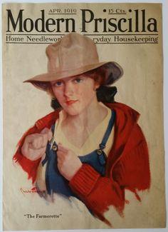 Modern Priscilla Magazine Cover - April 1919, Chase Emerson Art & Cream of Wheat #CreamofWheat