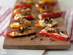 Goat Cheese and Bacon Stuffed Peppers by kimshealthyeats #Peppers #Goat_Cheese #Bacon