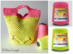 Faça você uma linda bolsa de crochê com Apolo Neon e deixe seu look mais Iluminado. As cores neon estão em alta neste verão e são perfeitas para compor contrastes com outras tonalidades. Por Bruna Szpisjak.