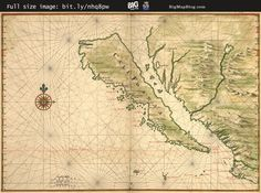 Vingboons' #map of #California depicted as an island (1650s) — http://www.bigmapblog.com/2011/vingboons-map-of-california-as-an-island-1650s/