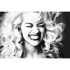 Rita Ora by Damon Baker for The Sunday Times Style ❤ liked on Polyvore featuring people, models, pictures, backgrounds and hair