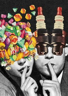 Collages by Anton Walker