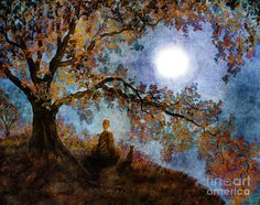 Harvest Moon Meditation by Laura Iverson