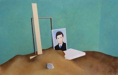 Sans titre - 2014 100x155 cm, huile, acrylique, et spray sur toile