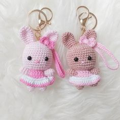 Knitting TechniquesKnitting For KidsCrochet Hair StylesCrochet Amigurumi Kawaii Crochet, Crochet Bunny, Crochet Animals, Crochet Flowers, Free Crochet, Crochet Keychain Pattern, Crochet Patterns Amigurumi, Crochet Dolls, Crochet Stitches