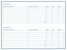 project budget worksheet free printable organized home