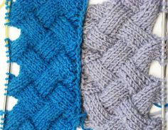 Entrelac Knitting Patterns ( without Turning Work) _ Узор Плетенка или Э...