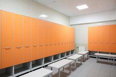 Modern Locker Room w/ bring colors