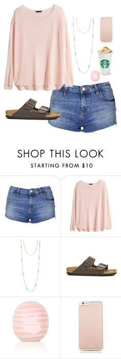 """Follow the awesome people below!"" by lizziepreppystyles ❤ liked on Polyvore featuring Mode, Topshop, H&M, Chan Luu, Birkenstock, Kate Spade, women's clothing, women, female und woman"