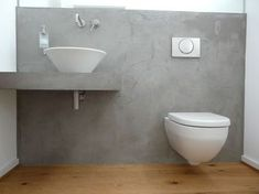 Make your own wall with a concrete look - Trend structure concrete look - Rosegold & MarbleA concrete look wall gives every room industrial loft character. Making the concrete look yourself is very easy. Wc Design, Beton Design, Laundry Room Design, Decorative Tile, Concrete Floors, Bathroom Inspiration, Sweet Home, Flooring, Flats