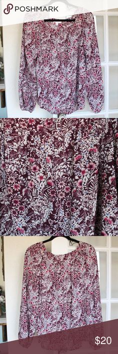 LC Lauren Conrad | Flowy Floral Top LC Lauren Conrad Floral Top   Size: X-Large   Material: 100% polyester   Brand new, never worn. LC Lauren Conrad Tops