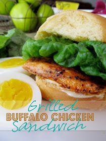Lovely Little Snippets: Grilled Buffalo Chicken Sandwich