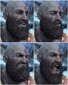 Kratos' faces in photo mode are brilliant! [God of War]