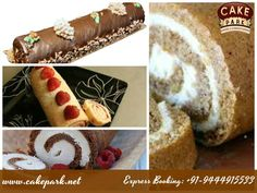 Yummy tasty ‪#‎chocolate‬ roulade ‪#‎cake‬ from cake park!. Wide range of ‪#‎delicious‬ chocolate ‪#‎cakes‬ are available for sale. Find out more cakes at www.cakepark.net Call us: 044-45535532