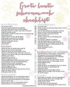 wee keer in het jaar begint het te kriebelen, het is tijd voor een grote schoonmaak! Afgelopen najaar deelde ik mijn 'grote herfst schoonmaak' lijst met jullie en vandaag is het tijd voor de grote lente schoonmaak lijst. Een printbare lijst waar de klusjes op staan die ik uitvoer tijdens mijn lente schoonmaak. Het schema …