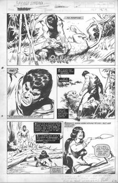 Savage Sword of Conan-[ Bront ] page by John Buscema, in Michael Bair's John Buscema Comic Art Gallery Room