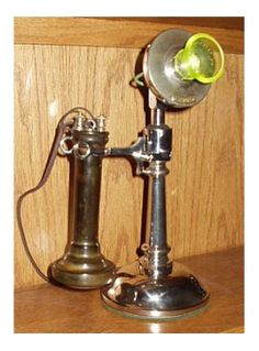 Model: #10 candlestick  Made by: Western Electric Co.  From: circa 1898