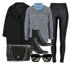 """#14047"" by vany-alvarado ❤ liked on Polyvore featuring River Island, Christian Louboutin, Chanel and Yves Saint Laurent"
