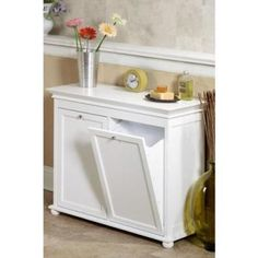 Hampton Bay 26 in. W Tilt-Out Hamper Double in White-2601310410 - The Home Depot