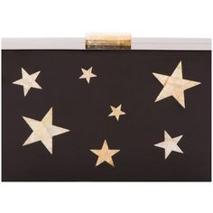 Kayu Sidney Stars Clutch (550 AUD) ❤ liked on Polyvore featuring bags, handbags, clutches, purses, red handbags, clasp purse, acrylic purse, red clutches and lucite handbag