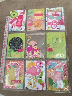 Flamingo, Lime, and Hot Pink Pocket Letter