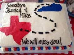 Going Away Cake - - Yahoo Image Search Results Goodbye Cake, Goodbye Party, Goodbye Gifts, Going Away Cakes, Going Away Gifts, Farewell Cake, Farewell Gifts, Grad Parties, Birthday Parties