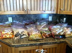 Freezer meals...3 days for 32 days of frozen meals, including grocery lists