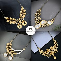 10 Stunning Styles Of Mangalsutra For Stylish Indian Brides Diamond Mangalsutra, Gold Mangalsutra Designs, Gold Jewellery Design, Silver Jewellery, Jewelery, Silver Rings, Jewellery Bracelets, Jewellery Sale, India Jewelry