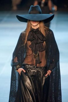 cool chic style fashion: Saint Laurent Spring / Summer 2013 - Mesch cape
