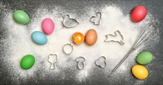 Easter food background by LiliGraphie on @creativemarket