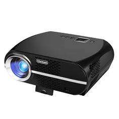 Kllarmant Video Projector, Portable Home Theater Projector GP100 3200 Lumens Resolution 1280x800 Support 1080P USB HDMI VGA for Video Games and Home Cinema Theater