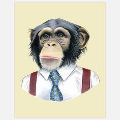 chimpanzé président