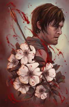 While I love Daryl, I would not get a a Daryl tattoo. I do love the Cherokee Rose...without the blood