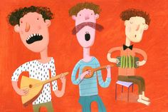 Musicians Original painting by behappynow on Etsy,