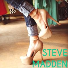 STEVE MADDEN LTHR DEENY PLATFORM STILETTOS STEVE MADDEN DEENY PLATFORM STILETTOS NUDE, NATURAL-GRAIN LEATHER, SKY HIGH PLATFORM STILETTOS! SUPER SEXY & CHIC❤️ SIZE 5.5 EXCELLENT CONDITION- WORN ONE TIME FOR PHOTOS PICTURED (inside & outside) ONLY SOLE SHOWS WEARNO BOX Steve Madden Shoes