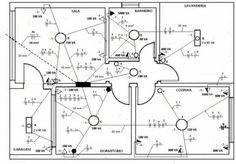 Exemplo de planta de projeto elétrico.