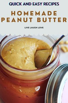 Quick & easy recipe for delicious homemade Peanut Butter! Breakfast cannot have a better homemade accompaniment! #peanutbutterrecipe #homemadecondiments #nutbutter #easyrecipeideas #peanuts #peanutbutter | Homemade Nut Butter Recipes | Peanut Butter Recipes Homemade Nut Butter Recipes, Peanut Butter Recipes, Quick Easy Meals, Food Processor Recipes, The Best, Peanuts, Breakfast, Board, Check